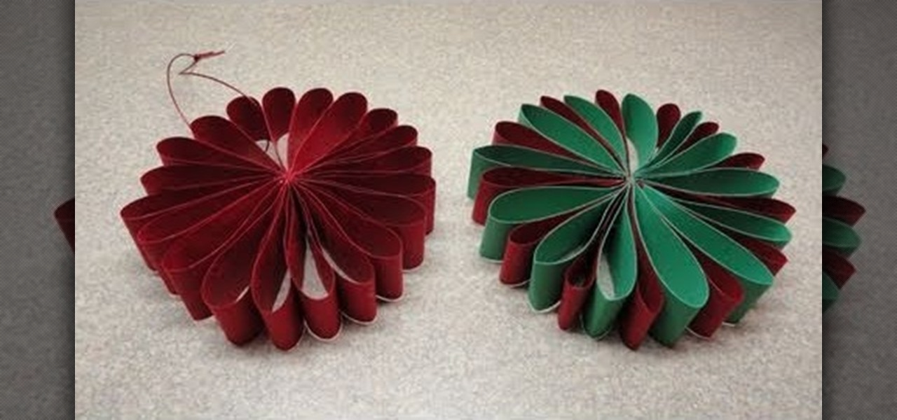 How To Craft A Simple Folded Paper Flower Ornament For Christmas