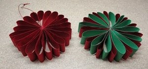 Craft a simple folded paper flower ornament for Christmas