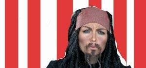 "Do Captain Jack Sparrow's makeup from ""Pirates of the Caribbean"""