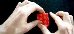 Origami a Christmas star