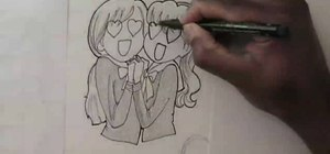 Draw manga/anime characters in love