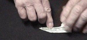 Origami a dollar bill giraffe