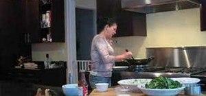 Make an easy shrimp stir-fry with peas and bok choy
