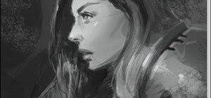 Draw a manga woman in knights armor