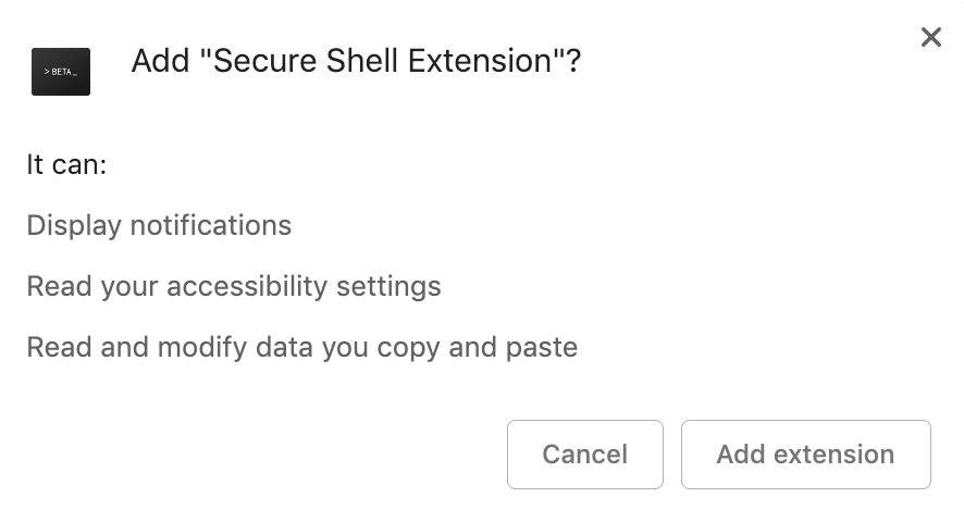 How to use the Secure Shell app for Chrome for SSH in remote tools