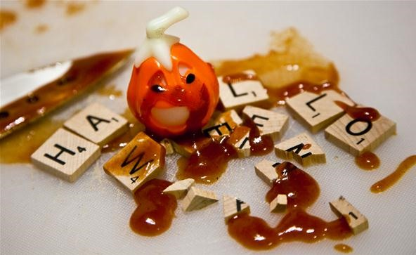 Scrabble Challenge #13: Can You Find the Best Halloween Bingo Play, Plus a 765-Point Killer?