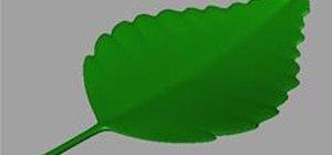 Model a Leaf in Maya