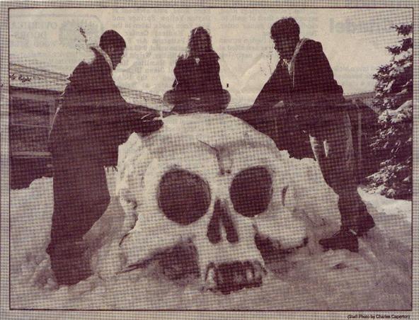 Brooklynites Build Skull-Shaped Igloo Fortress