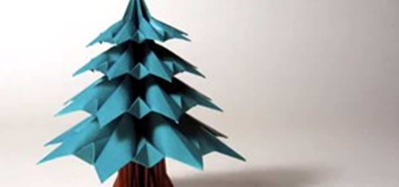 Holiday Project Origami Christmas Trees Math Craft WonderHowTo