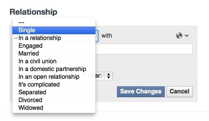"""How to Stop Friends from Asking You What Your """"Relationship Status"""" Is on Facebook"""