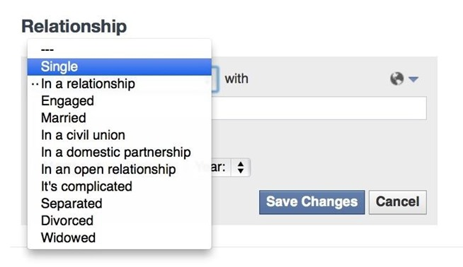 how to get out of a relationship status on facebook