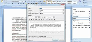 Create and use styles in Microsoft Office Word 2007
