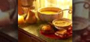 Make a pesto grilled sandwich & butternut squash soup