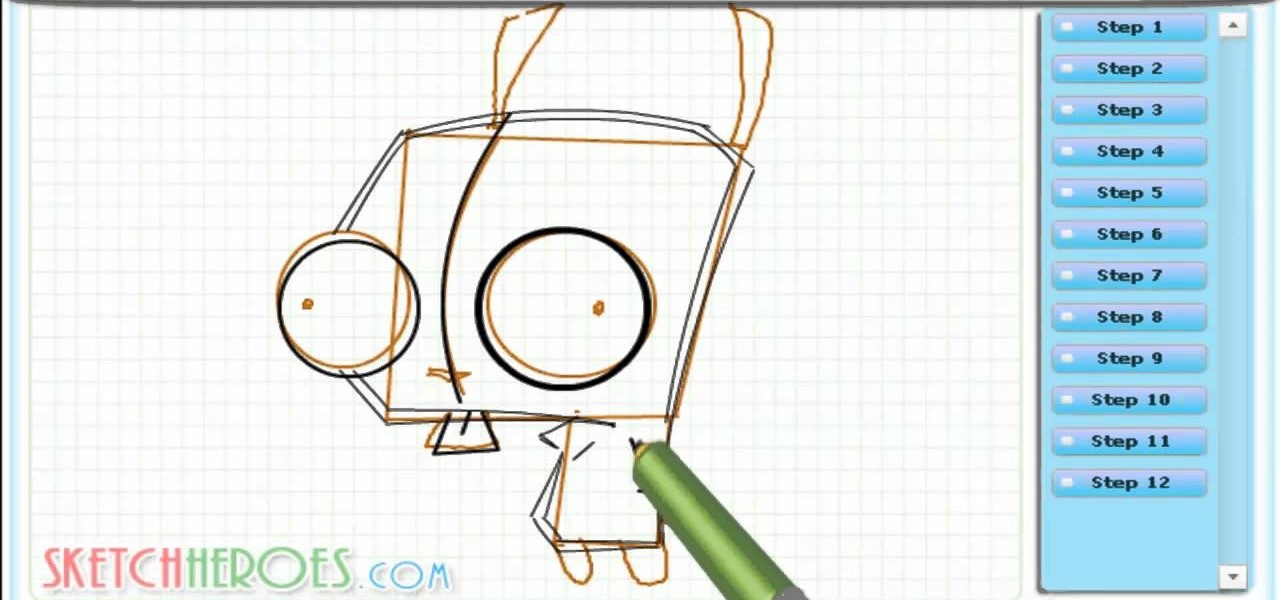 Draw Gir (Invader Zim)