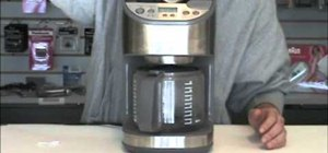 Decalcify your coffee pot and coffee maker at home