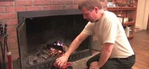 Cook food in the fireplace