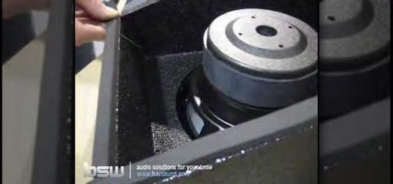 How To Install A Subwoofer Into A Bmw 3 Series E36 171 Car