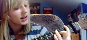 "Play ""Broken Strings"" by James Morrison on guitar"