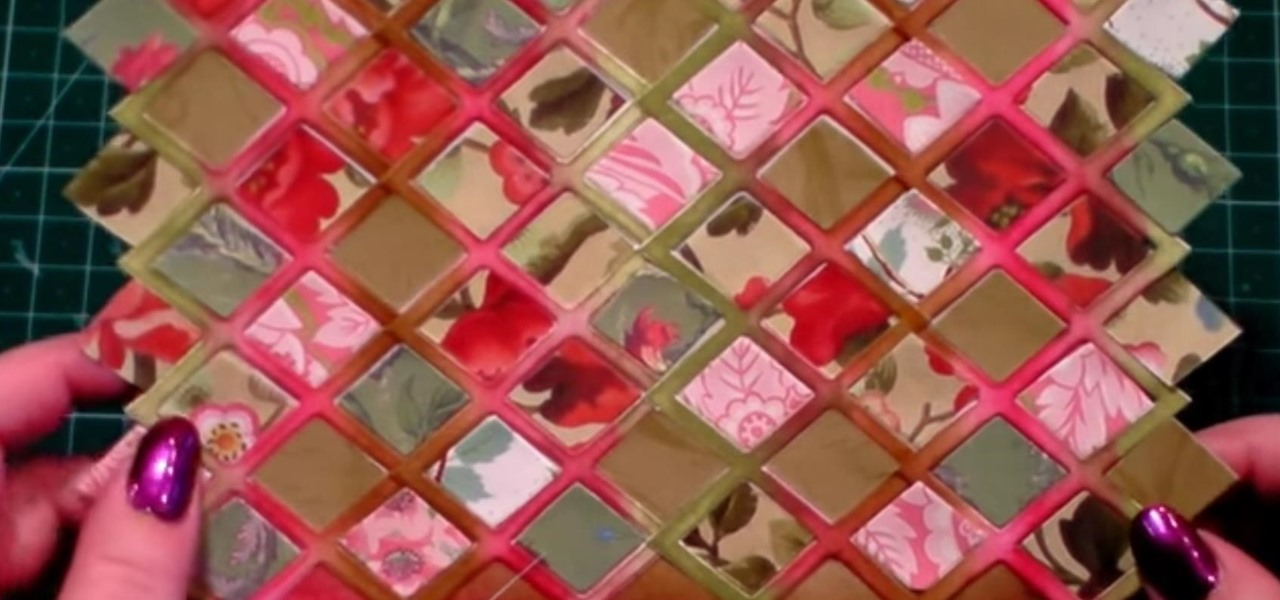 Make a Lattice Background for Your Paper Crafting