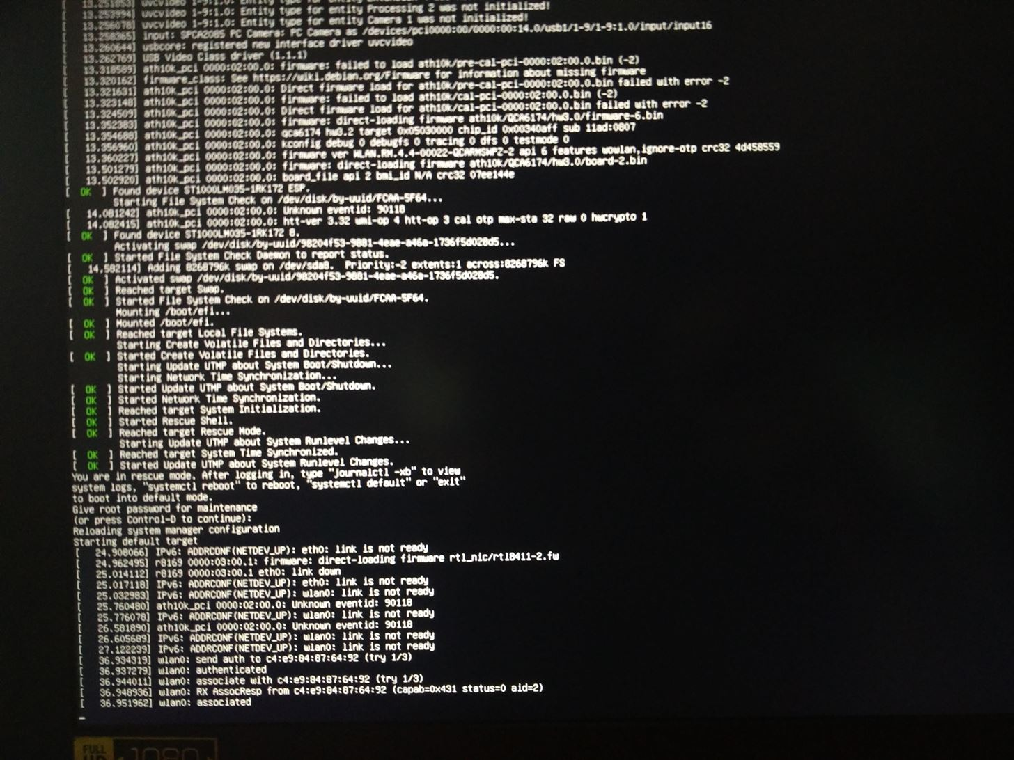 My Kali Linux Stuck in Boot After Update