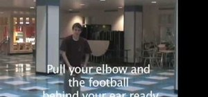 Throw a football step by step