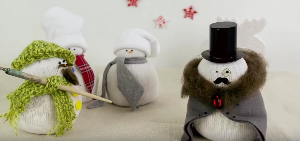 Make a Snowman with Socks.