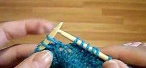 Slip stitch basic knitting instructions
