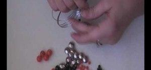 Bead a Halloween skull bracelet
