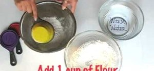 Prepare the mixture for paper mache