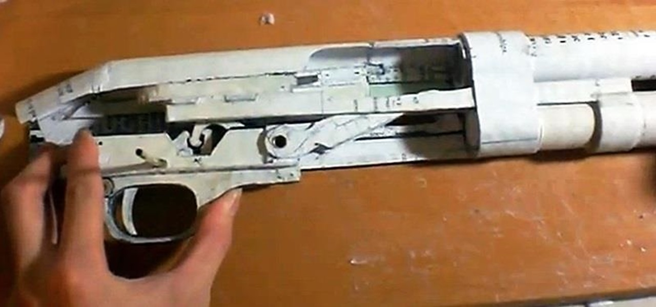 Fully Functional DIY Pump Action Shotgun Made Out of Paper