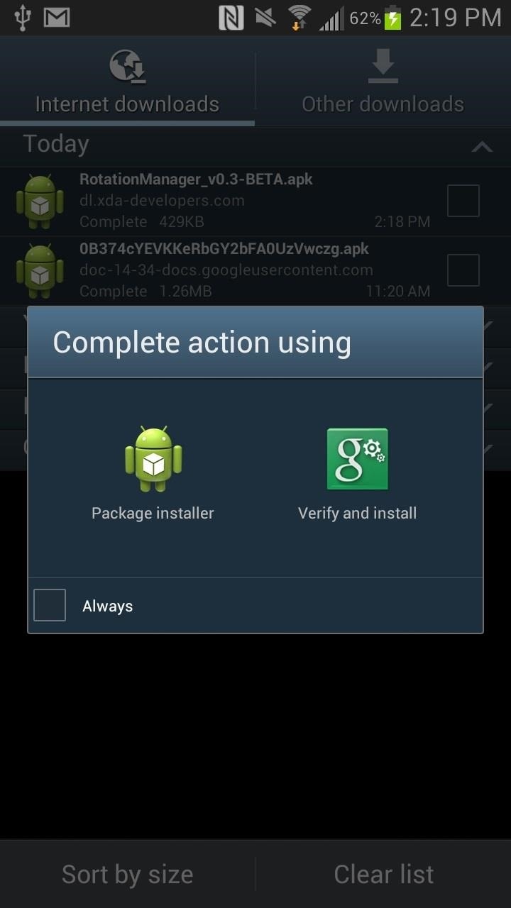 How to Control the Auto-Rotate Settings for Apps Individually on Your Samsung Galaxy Note 2