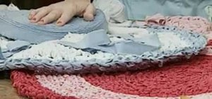 Crochet a rag rug from recycled cotton bed linens