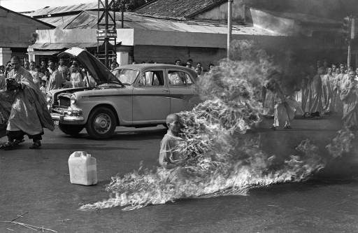 See the Famous Burning Monk in Shocking Color