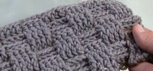 Crochet a basket weave stitch for right handers