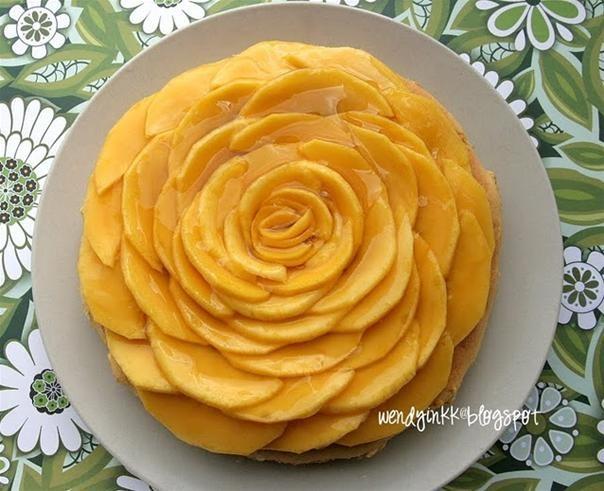 RECIPE: Mango Cotton Cheesecake with Mango Crown