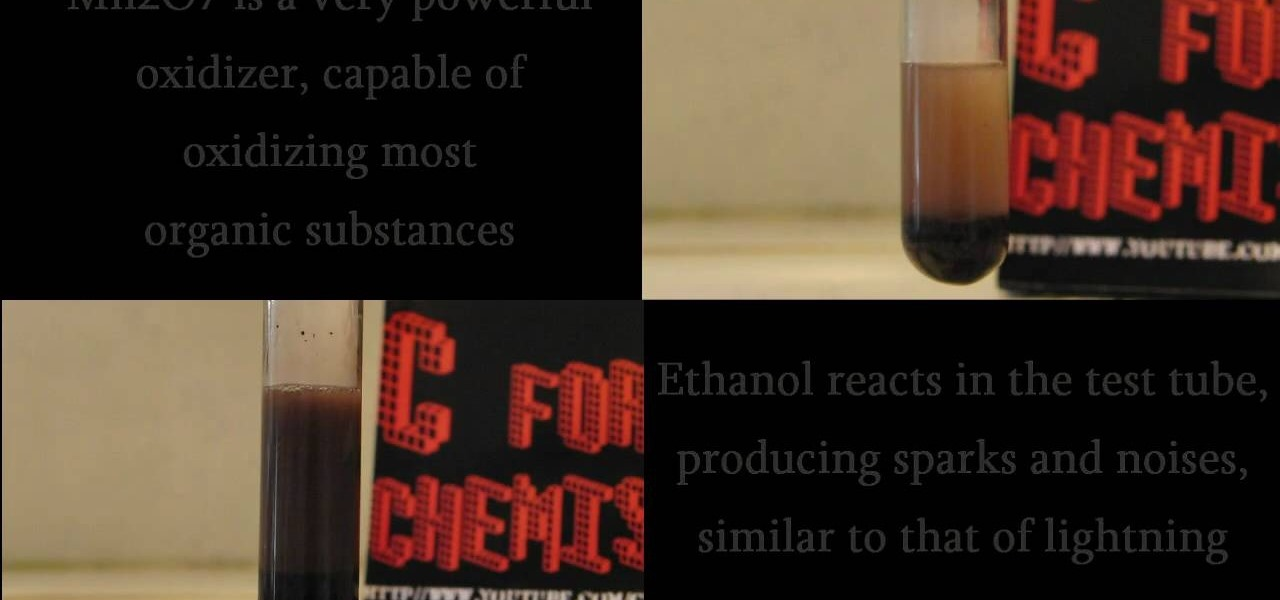 How to Make thunder in a test tube with ethanol & acetone