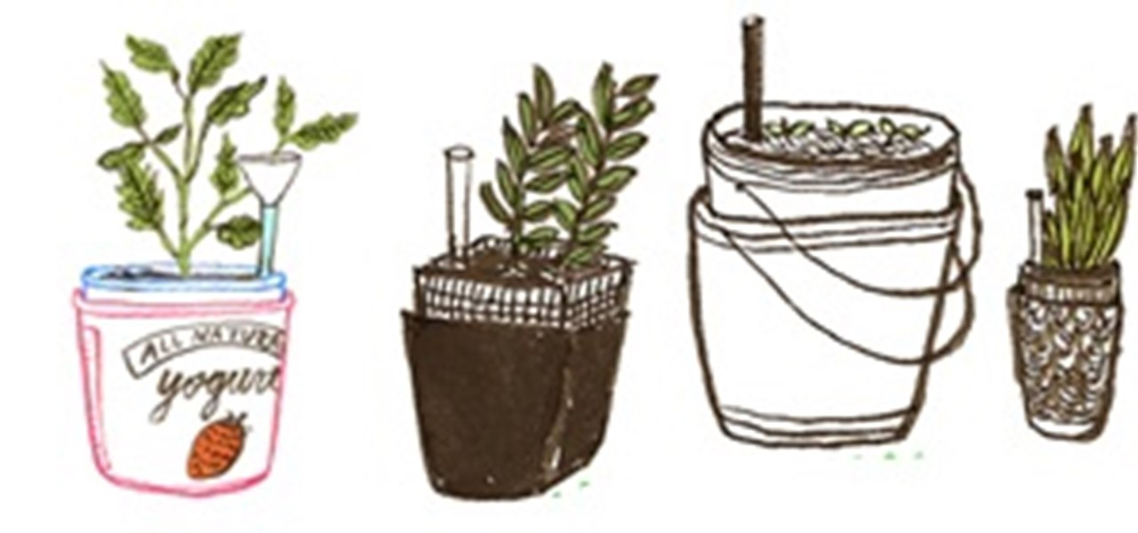 How to Make a Self-Irrigating Planter with Yogurt Containers « The Planters Yogurt on