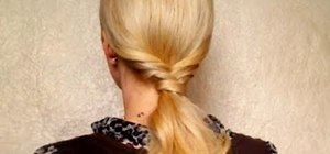 Create several ponytail hairstyles for long and medium hair
