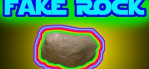 Build a fake rock movie prop