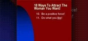 Attract women by knowing what women want