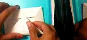 Make a paper origami envelope
