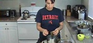 Make meat stuffed grape leaves