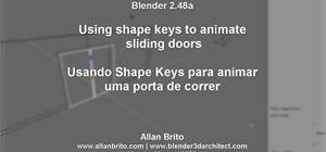 Animate sliding doors with shape keys in Blender 2.5