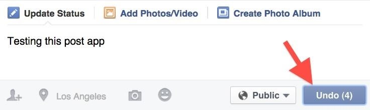 Facebook Undo Gives You 5 Seconds to Think About What You're Actually Posting