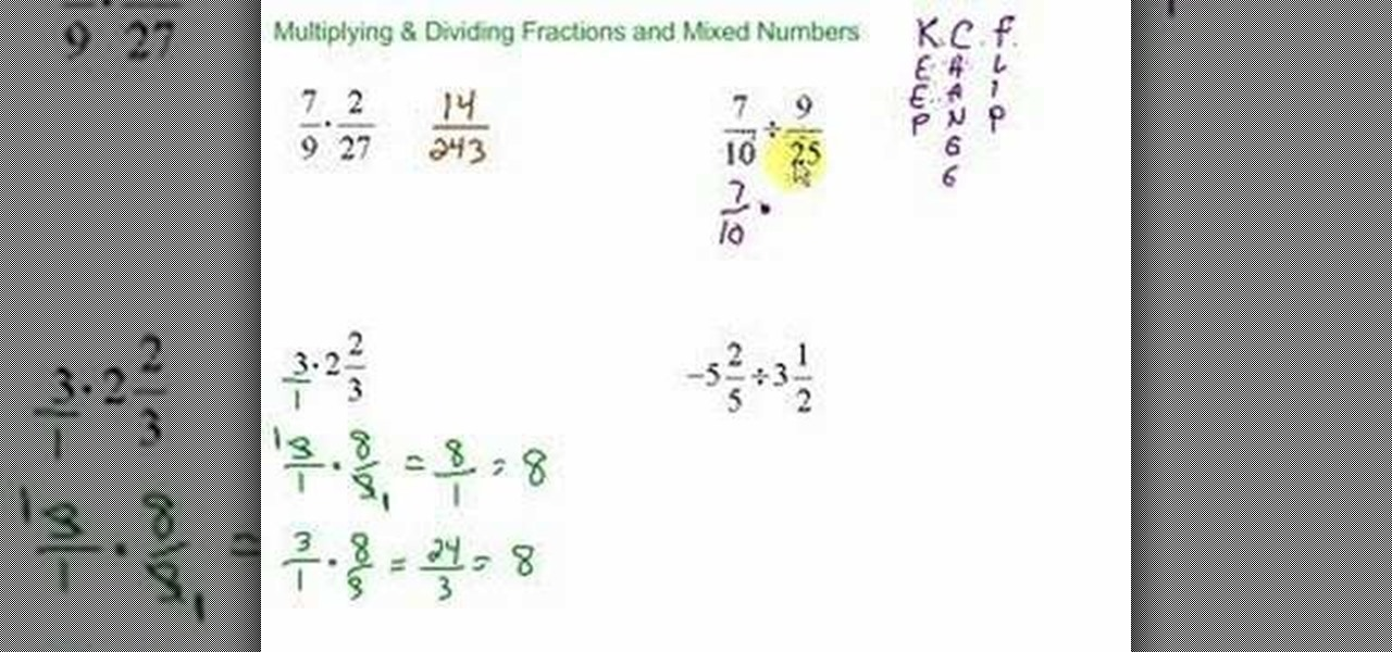 How to Multiply & divide fractions & mixed numbers « Math ...