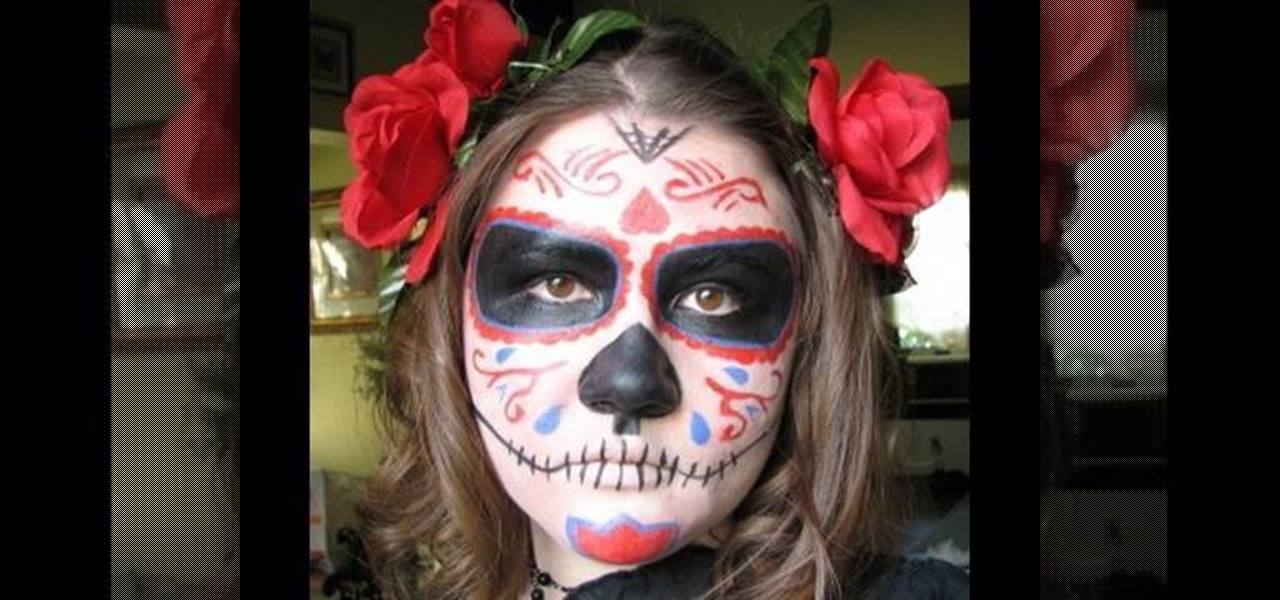 How to Dress as a Dia de los Muertos sugar skull for Halloween « Halloween  Ideas  WonderHowTo