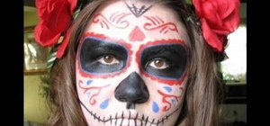 Dress as a Dia de los Muertos sugar skull for Halloween