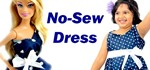 How to Make an Easy No-Sew (No Sew) Dress for Barbie and You