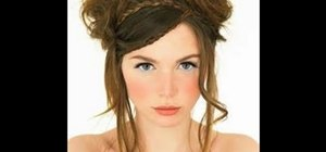 Create a non-traditional braided half up half down bridal hairstyle