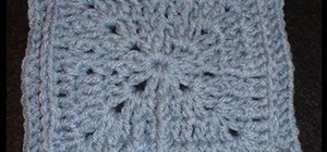 Jacmel crochet a granny square left-handed